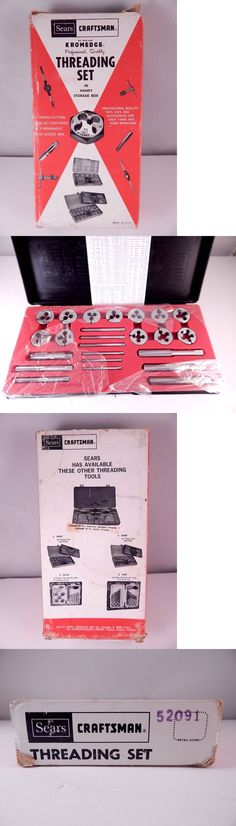 Taps and Dies 46458: Vintage Sae Craftsman Kromedge Threading Set #52091 New -> BUY IT NOW ONLY: $74.5 on eBay!