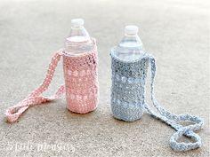 5 Little Monsters: Aurora Water Bottle Holder Stitch Patterns, Crochet Patterns, How To Make Scarf, Reusable Water Bottles, Water Bottle Holders, Magic Ring, Little Monsters, Market Bag, Slip Stitch