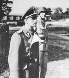 Otto Skorzeny and, perhaps, Schellenberg, it looks like him Walter Schellenberg, Major General, The Third Reich, Portraits, World War I, Ww2, People, German Language, History