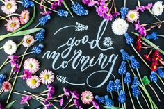 Good morning by Floral Deco on @creativemarket