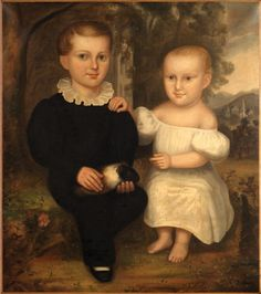 PORTRAIT OF TWO CHILDREN FROM THE SCHUYLER FAMILY OF NEW YORK.