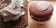 Barnevennlig sjokoladekake med sjokoladekrem med O'boy Muffin, Cakes, Breakfast, Desserts, Food, Morning Coffee, Tailgate Desserts, Deserts, Cake Makers