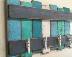 Items similar to Nautical Coat Rack, Primitive Oar, Wooden Oar ...