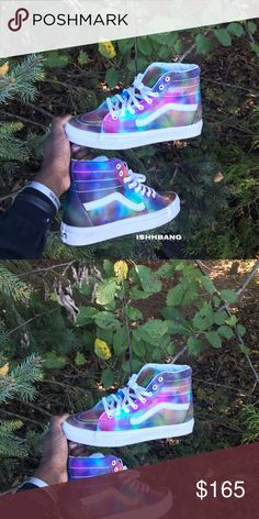 755bb0dd Customized Sk8 High Vans Tie-Dyed You are viewing my customized pair of Sk8  High