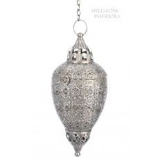 SILVER HANGING LANTERN L Hanging Lanterns, Decorative Bells, Bulb, Ceiling Lights, Ebay, Holiday Decor, Frame, Silver, Design