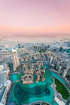 Another view of the sunset from the observation deck of the Burj Khalifa, Dubai. A truly incredible sight to be seen! Dubai City, Dubai Uae, Oh The Places You'll Go, Places To Travel, Travel Destinations, Places To Visit, Abu Dhabi, Beautiful World, Beautiful Places