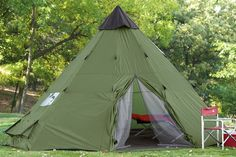 Guide Gear 18x18' Teepee Tent : Family Tents : Sports & Outdoors