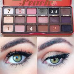 Valentine's Day is coming up and here is one look I would do if I went out on a date with my husband!:) so throughout this week and next… Too Faced Eyeshadow, Peach Eyeshadow, Eyeshadow Looks, Eyeshadow Makeup, Eyeliner, Pale Skin Makeup, Peach Makeup, Makeup Goals, Makeup Tips