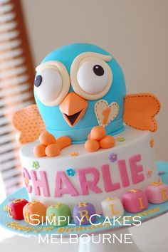 Hoot cake for Charlie Boy First Birthday, First Birthday Parties, First Birthdays, Birthday Cake, Birthday Ideas, 3d Cakes, Projects To Try, Masons, Cool Stuff
