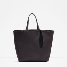 LEATHER TOTE WITH KNOTS-View all-Bags-WOMAN | ZARA Eur