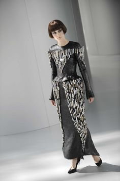 robe tuyaux Chanel défilé haute couture automne hiver 2008