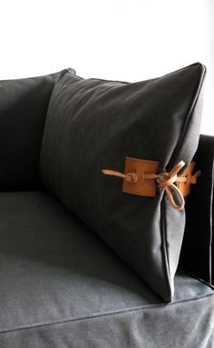 Indoor Outdoor Furniture Made From Salvaged Waxed Canvas Casamidy Altamura Canvas And Leather Sofa Remodelista Diy Pillows, Cushions On Sofa, Throw Pillows, Furniture Making, Diy Furniture, Barbie Furniture, Furniture Design, Garden Furniture, Coaster Furniture