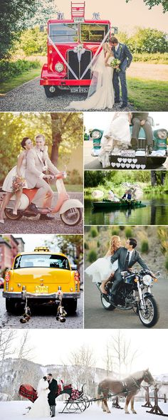 Not a fan of the traditional wedding car? No Problem! These days there are plenty of ways for you and your new husband to arrive at your reception or ceremony in style-just take a look at these unusual wedding transport ideas and prepare to fall in love