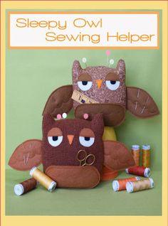 Sleepy Owl Sewing Helper PDF Pattern