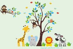 "Baby Nursery Wall Decals Safari Jungle Childrens Themed 83"" X 125"" (Inches) Animals Trees Wildlife: Made of Wall Fabric Material Repositional Removable Reusable Wall Fabric,http://www.amazon.com/dp/B00921MYW0/ref=cm_sw_r_pi_dp_tWjVsb09QCD8BRP4"