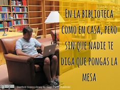 En la biblioteca como en casa, pero sin que nadie te diga que pongas la mesa