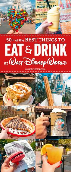 From crispy treats to crepes, we're sharing 50+ of the Best Things to Eat and Drink at Walt Disney World!