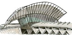 sketch of architecture of Calatrava