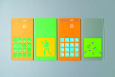 Booklets designed for the 1972 Munich Olympics - reflecting the open, light and restrained colour palette selected for the games.
