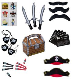 Pirate Party Supplies and Pirate Favor Toy Bundle. 180 Piece Complete Kit Featuring Pirate Themed Inflatable Swords, Tattoos, Mustaches, Eye Patches, Telescopes - http://ratezon.com/product/pirate-party-supplies-pirate-favor-toy-bundle-180-piece-complete-kit-featuring-pirate-themed-inflatable-swords-tattoos-mustaches-eye-patches-telescopes/