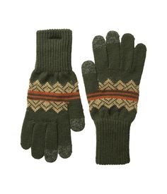 Green American Treasures Jacquard Texting Gloves - Apparel & Accessories - National Cowboy Museum