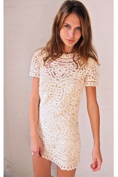 ivory lace... Maybe not my wedding dress but I must have this for something else... Bachelorette Party? Wedding shower?