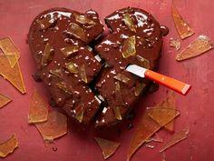 Get Broken Heart Chocolate Cake Recipe from Food Network