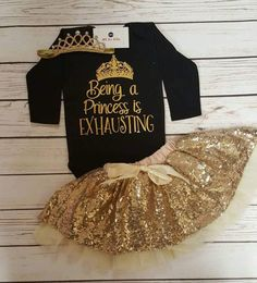 Nordstrom Clothes - Baby Girl Clothes, Being A princess Is Exhausting Bodysuit, Infant Baby Kind, My Baby Girl, Baby Love, Baby Girl Onesie, Baby Bodysuit, Baby Girl Items, Baby Girl Princess, Baby Baby, Toddler Outfits