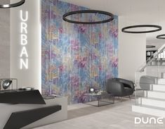 City brings us the vitality and discreet complexity of an extremely cosmopolitan city. Mural consisting of two sets of four tiles that can create as Fancy, Candy Colors, Bad, Tiles, Curtains, Ceramics, Interior Design, Wallpaper, Projects