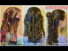 heatless curls, recommended #1 from one of the awesomest hairstylists ever- the mom from Princesshairstyles.com!