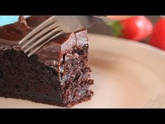 The most Amazing ultimate Chocolate Cake: moist, mud, fudgy that melts in your mouth! This rich and decadent dessert has an incredible fudge texture, you can. Ultimate Chocolate Cake, Tasty Chocolate Cake, Cocoa Cake, Vegan Milk, Cupcake Cakes, Cup Cakes, Brownie Cake, Cake Batter, Sweet Cakes