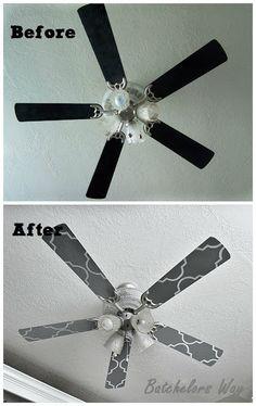 Batchelors Way: Office Redo - Custom Ceiling Fan Blades