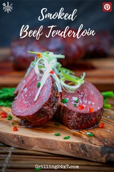If you want to impress your guests Smoked Beef Tenderloin on the pellet grill is always a show stopper and great for large groups. Pellet Grill Recipes, Grilling Recipes, Beef Steak Recipes, Healthy Beef Recipes, Ground Beef Recipes, Meat Recipes, Smoked Beef, Beef Tenderloin, Shellfish Recipes