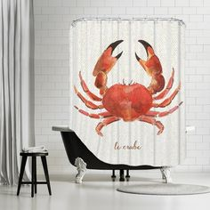 Captivating Found It At Wayfair   French Kitchen Seafood Crab Shower Curtain