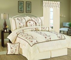Somerset Embroidery Bedding Comforter Set
