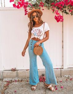 114cd6b526e3 Sailor Sweetie Striped Pants Summer Wardrobe, Summer Looks, Striped Pants,  Bell Bottom Jeans