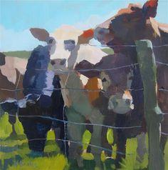 "Daily Paintworks - ""Cows"" - Original Fine Art for Sale - © Kaethe Bealer"