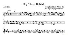 Hey There Delilah - Plain White T's (Saxophone Sheet Music)