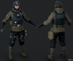 Zofia » Pack 3D models 3d Model Character, Character Modeling, Character Outfits, Character Art, Character Design, Rainbow Six Siege Art, Rainbow 6 Seige, Military Gear, Military History