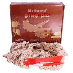 Kinetic Sand™ Dino Dig T-Ric Original Kinetischer Sand Indoor Magisch Fließend in Spielzeug, Basteln & Kreativität, Modellieren | eBay