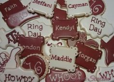Aggie Ring cookies by Sweet Station, College Station, 979-690-7502 14 days notice preferred