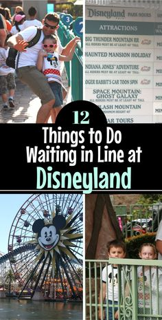 Waiting in line at Disney can't always be avoided but here are 12 constructive ways to spend the time in queue that will entertain and occupy your family (lots of ideas for keeping toddlers and kids busy in line at the Disneyland parks!) #Disneyland #DisneyVacation
