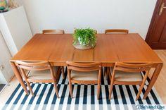 Vintage eetkamerset 6 personen Bramin Møbler - Te koop