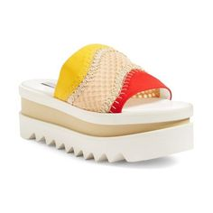 Women's Stella Mccartney Flatform Slide Sandal (5.240 NOK) ❤ liked on Polyvore featuring shoes, sandals, flatform shoes, stella mccartney, slide sandals, stella mccartney shoes and stella mccartney sandals