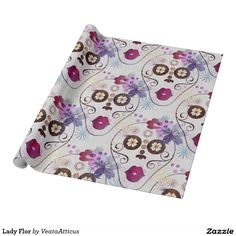 Lady Flor Wrapping Paper