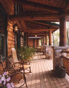 Beautiful Log Porch - plan 073D-0055 | houseplansandmore.com