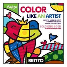 Britto Color Like an Artist Coloring Book by P'kolino