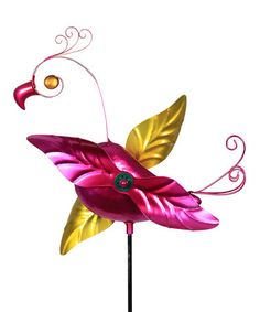 Lend your garden bright color and a whimsical look with the Exhart Metal Flamingo Whirligig Stake , made from UV-treated metal with bright pink and. Yard Flamingos, Make You Smile, Whimsical, Wings, Home And Garden, Invitations, Make It Yourself, Christmas Ornaments, Holiday Decor