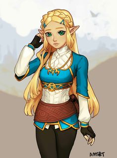 not sure what this is, but i assume it's a new look for zelda. i like it ^^