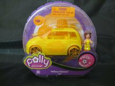 Polly Pocket Polly Wheels Lila with Yellow Licious Vehicles Play Set #38 by MATTEL. $9.99